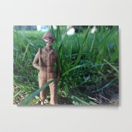Lost Army Man Metal Print