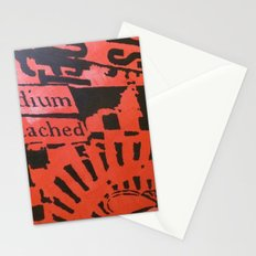 NO OTHER MEDIUM CAN BE ATTACHED Stationery Cards