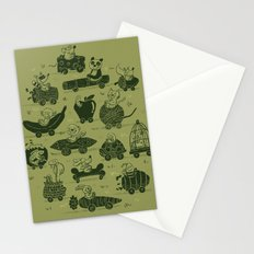 Critter Cars Stationery Cards
