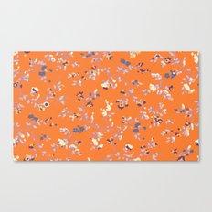 floral vines - orange and purple Canvas Print