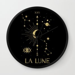 The Moon or La Lune Gold Edition Wall Clock