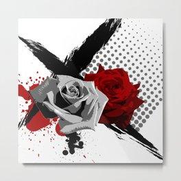 Trash Polka Roses Metal Print