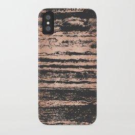 Marble Black Rose Gold - Never Mind iPhone Case
