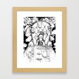 Mad artist tea party Framed Art Print