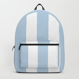 Beau blue - solid color - white vertical lines pattern Backpack