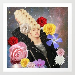 ONEUS Seoho with flowers in space Art Print