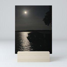 Moonshine on Lake Gaston Mini Art Print