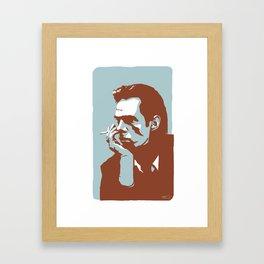 Vodka Melancholy Nick Cave Framed Art Print