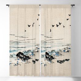 Beach Scenery Traditional Japanese Landscape Blackout Curtain