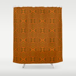 Autumnal Leaves Red Green and Amber Abstract Pattern Shower Curtain