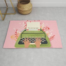 You Are My Type, Happy Valentine's Day Rug