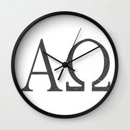 Alpha Omega Wall Clock