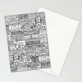 Cambridge toile mono Stationery Cards