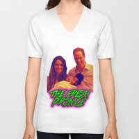 fresh prince V-neck T-shirts featuring The Fresh Prince by Matheus Lopes