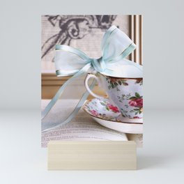 Teacup & Ribbon Mini Art Print
