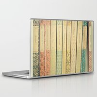 yellow Laptop & iPad Skins featuring Old Books by Cassia Beck