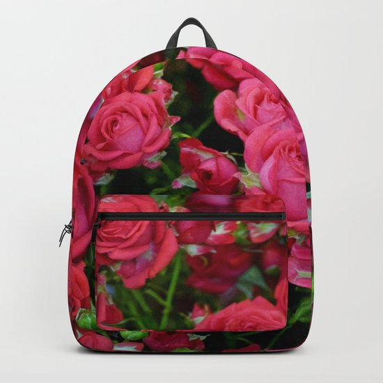 Bright red roses Backpack