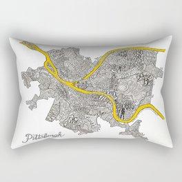 Pittsburgh Neighborhoods   3 Gold Rivers Rectangular Pillow