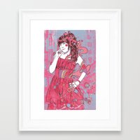 kawaii Framed Art Prints featuring Kawaii by reymonstruo