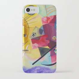Kandinsky Yellow Red Blue iPhone Case