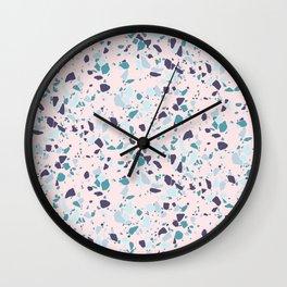 Terrazzo Granite Pink | by Kukka Wall Clock
