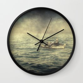 Old man and the sea Wall Clock