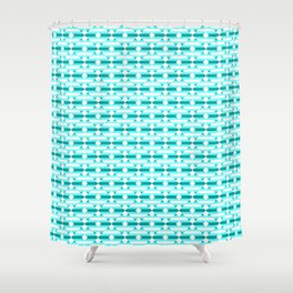 Enchantment, Ice Blue Geometric Shower Curtain