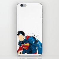 man of steel iPhone & iPod Skins featuring Man of Steel by ALmighty1080