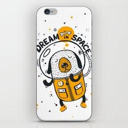Dream in space iPhone Skin