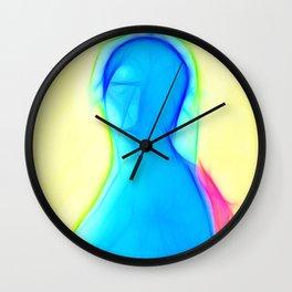 Blue woman Wall Clock