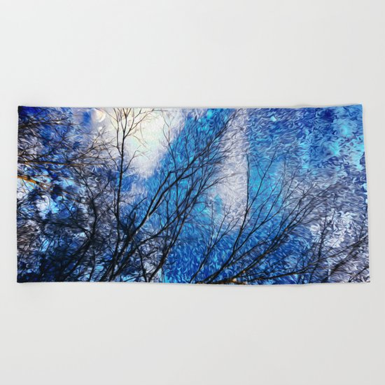 Wild Winter Beach Towel
