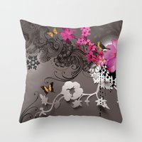romantic Throw Pillows featuring Romantic by Million Dollar Design
