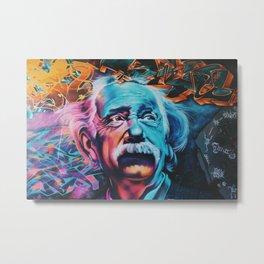Einstein Artwork Metal Print