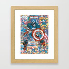 The American Superhero - Comic Art Framed Art Print