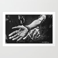 work hard Art Prints featuring Hard work by BeermanPhotography