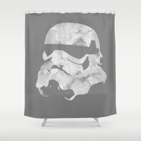 stormtrooper Shower Curtains featuring Stormtrooper by DanielBergerDesign