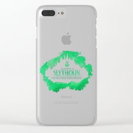 Slytherin Clear iPhone Case