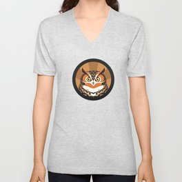 Great Horned Owl Unisex V-Neck