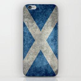 Flag of Scotland, Vintage Retro Style iPhone Skin