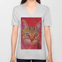 Popular Animals - Kitten Unisex V-Neck