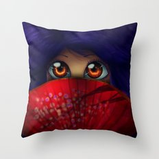 Hiding.  Throw Pillow