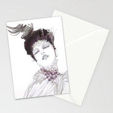 Purple dramatic fashion illustration Stationery Cards