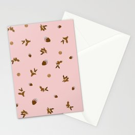 Eevee Chocolate Pink Strawberry Print Stationery Cards