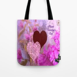 Happy Valentine`s Day Tote Bag