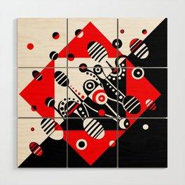 MICROGRAVITY - RED & BLACK Wood Wall Art