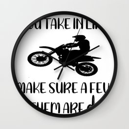 dirtpathsblack Wall Clock