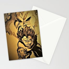 Vegeta and the Great Ape drawing Stationery Cards