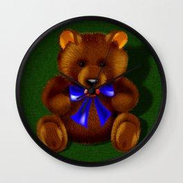 Hug Me Teddy Bear Wall Clock