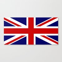 british flag Canvas Prints featuring British Union Flag by PICSL8