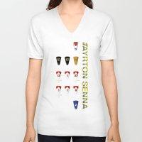 senna V-neck T-shirts featuring Ayrton Senna 1960-1994 by design.declanhackett